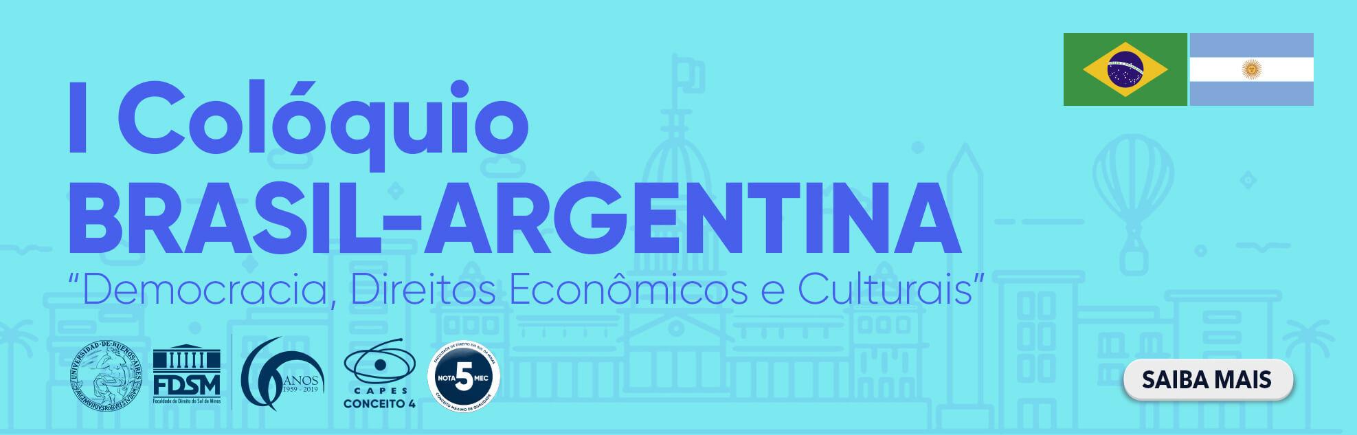 I Colóquio BRASIL-ARGENTINA