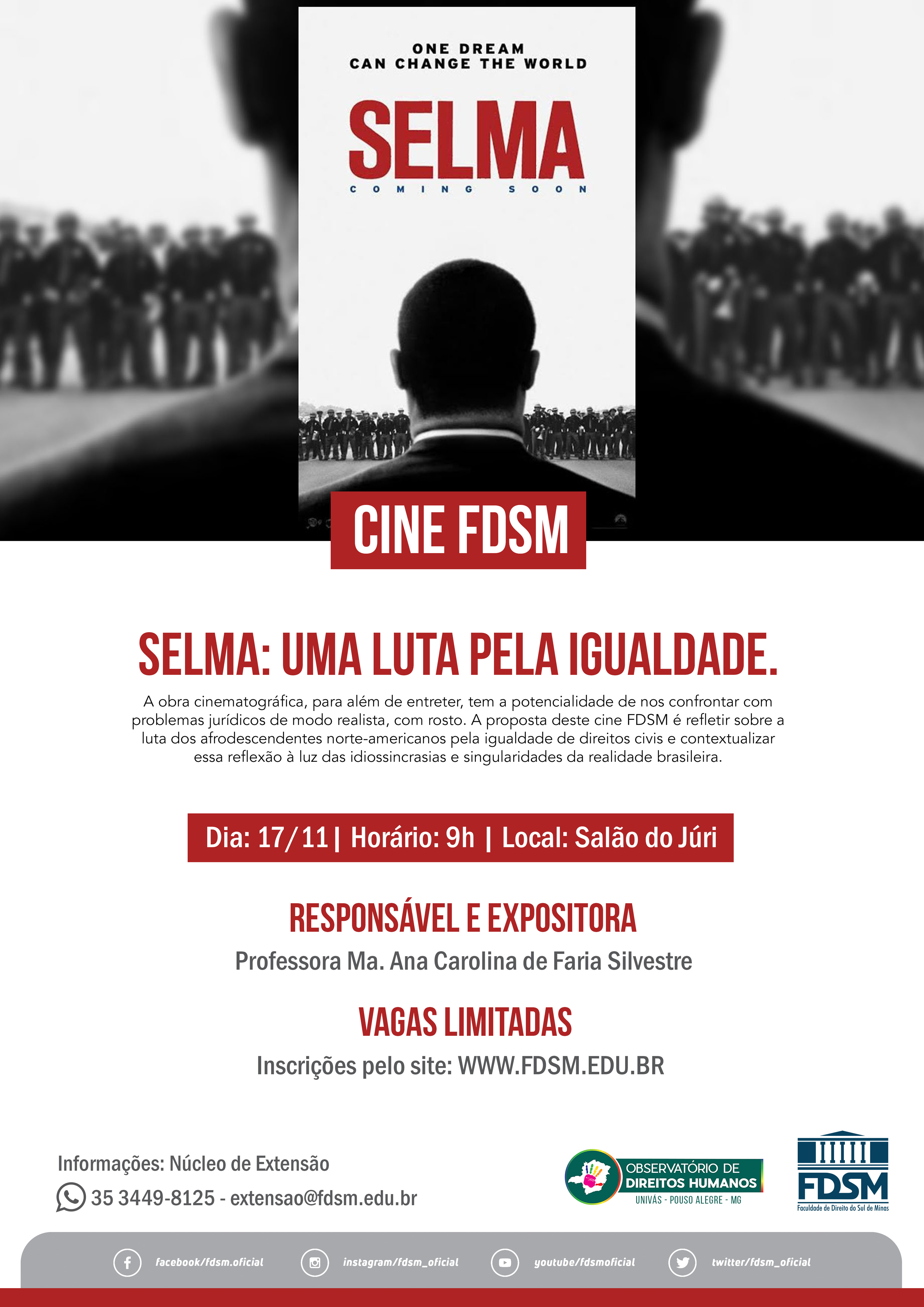 Cine FDSM - Selma: uma luta pela igualdade