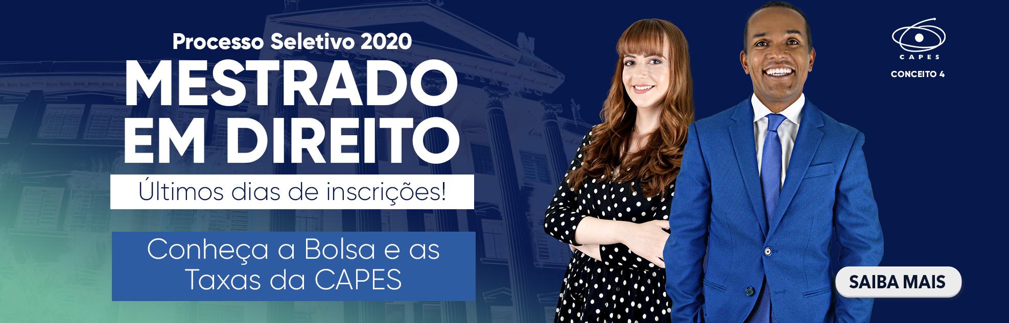 PROCESSO SELETIVO DO MESTRADO 2020