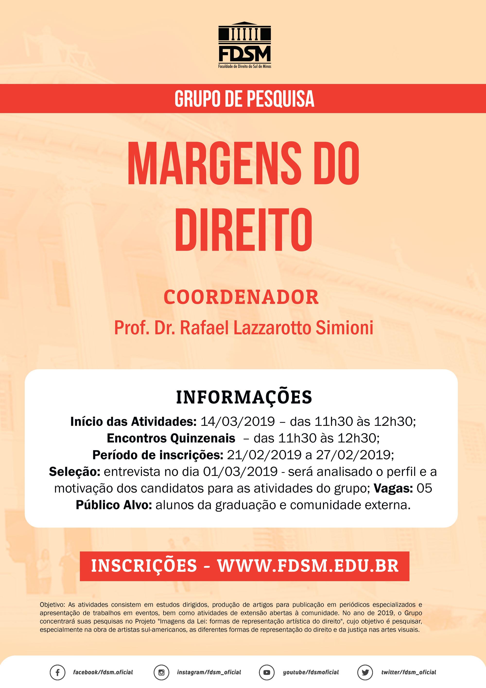 GRUPO DE PESQUISA MARGENS DO DIREITO