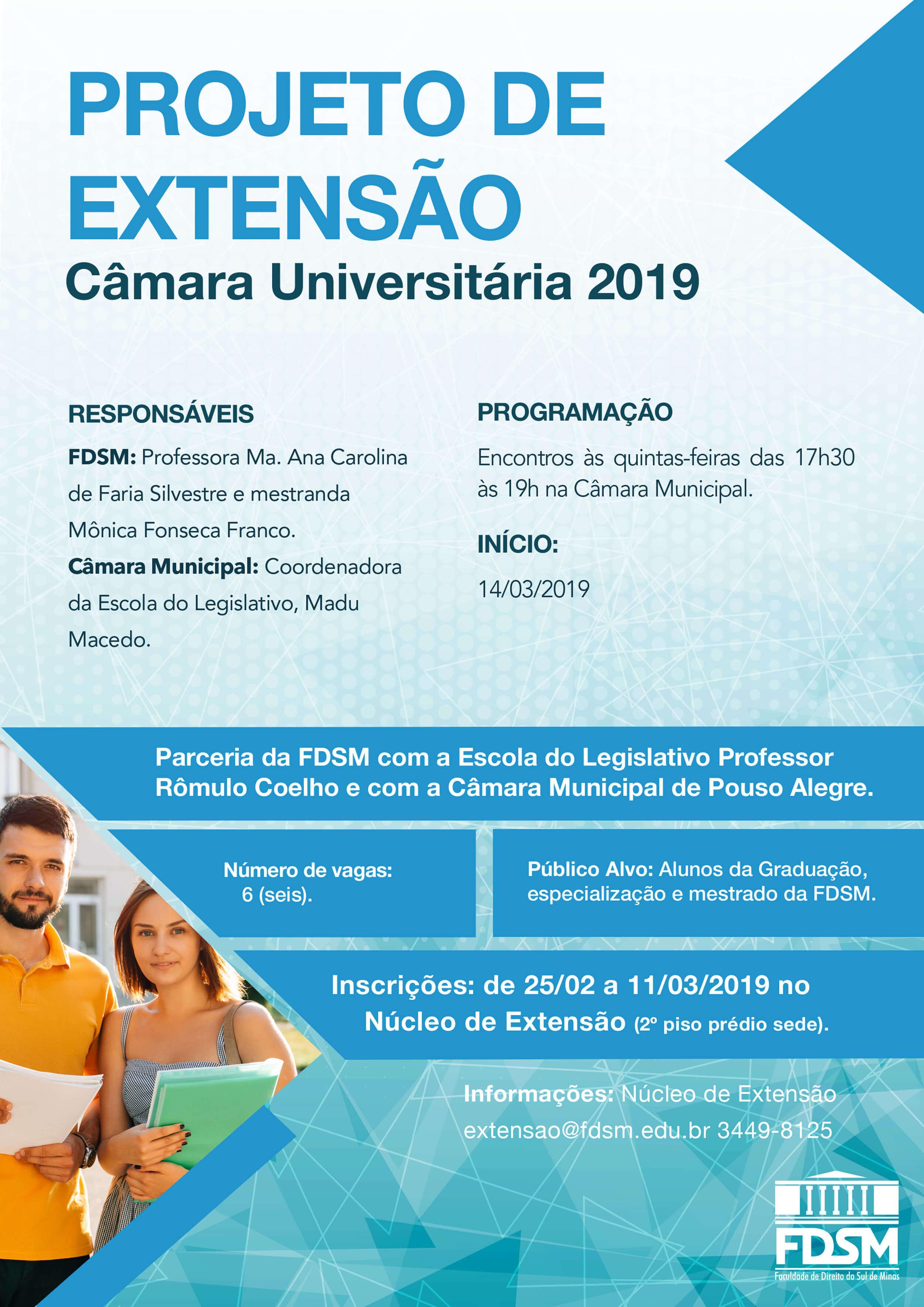 Cód 431: Câmara Universitária 2019