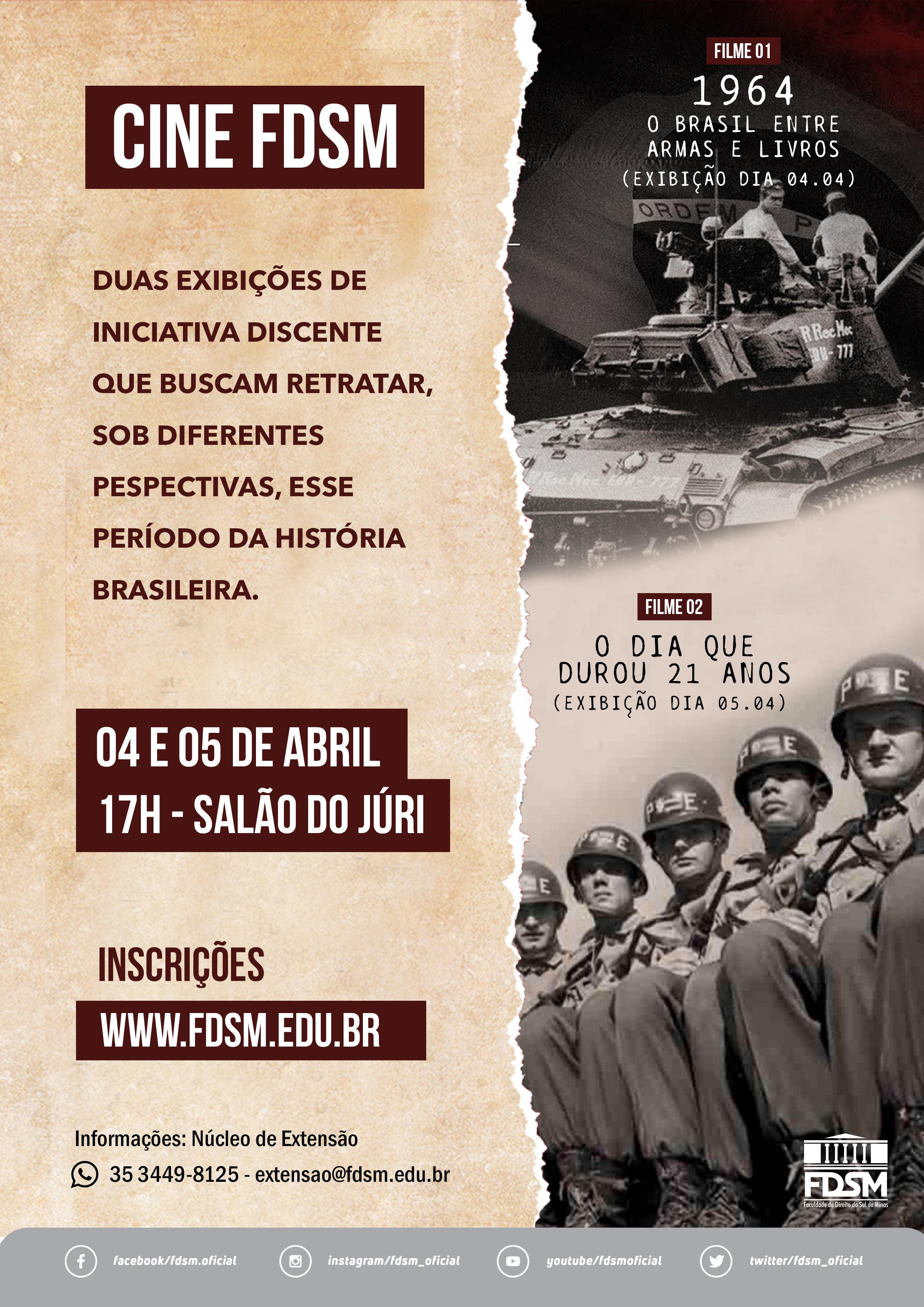 Cód 447: Cine FDSM - 1964: o Brasil entre Armas e Livros