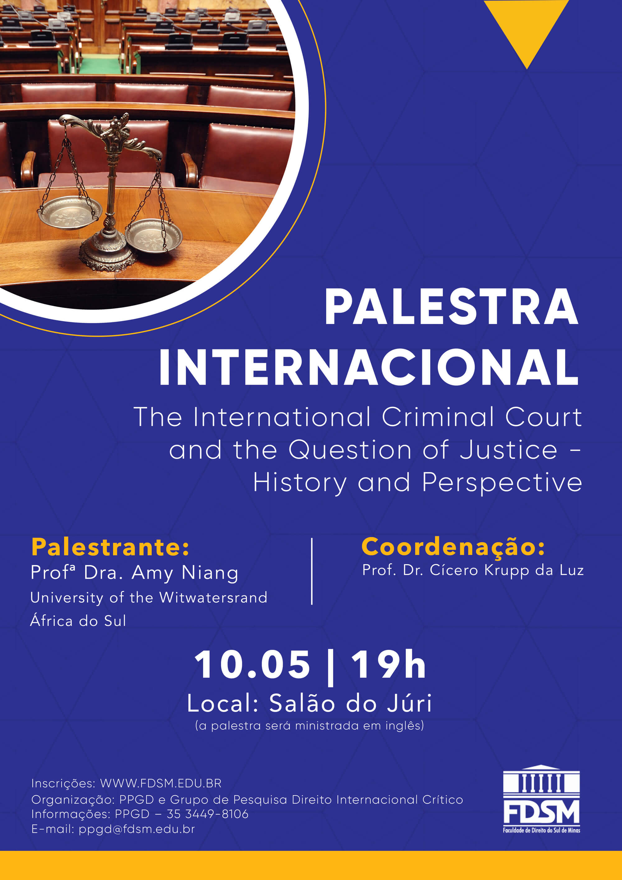 Cód 472:  Palestra Internacional - The International Criminal...