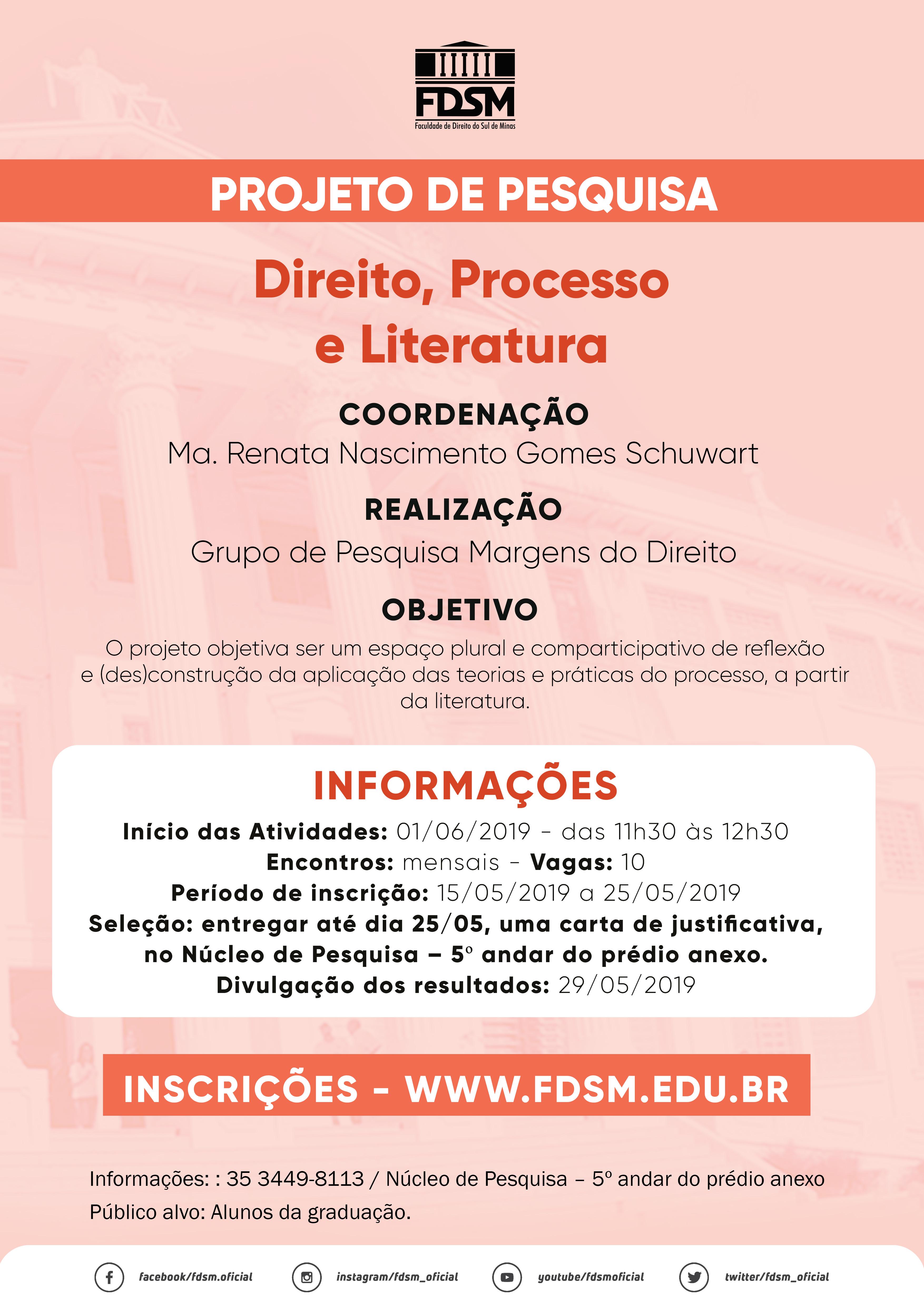 Projeto de Pesquisa - Direito, Processo e Literatura