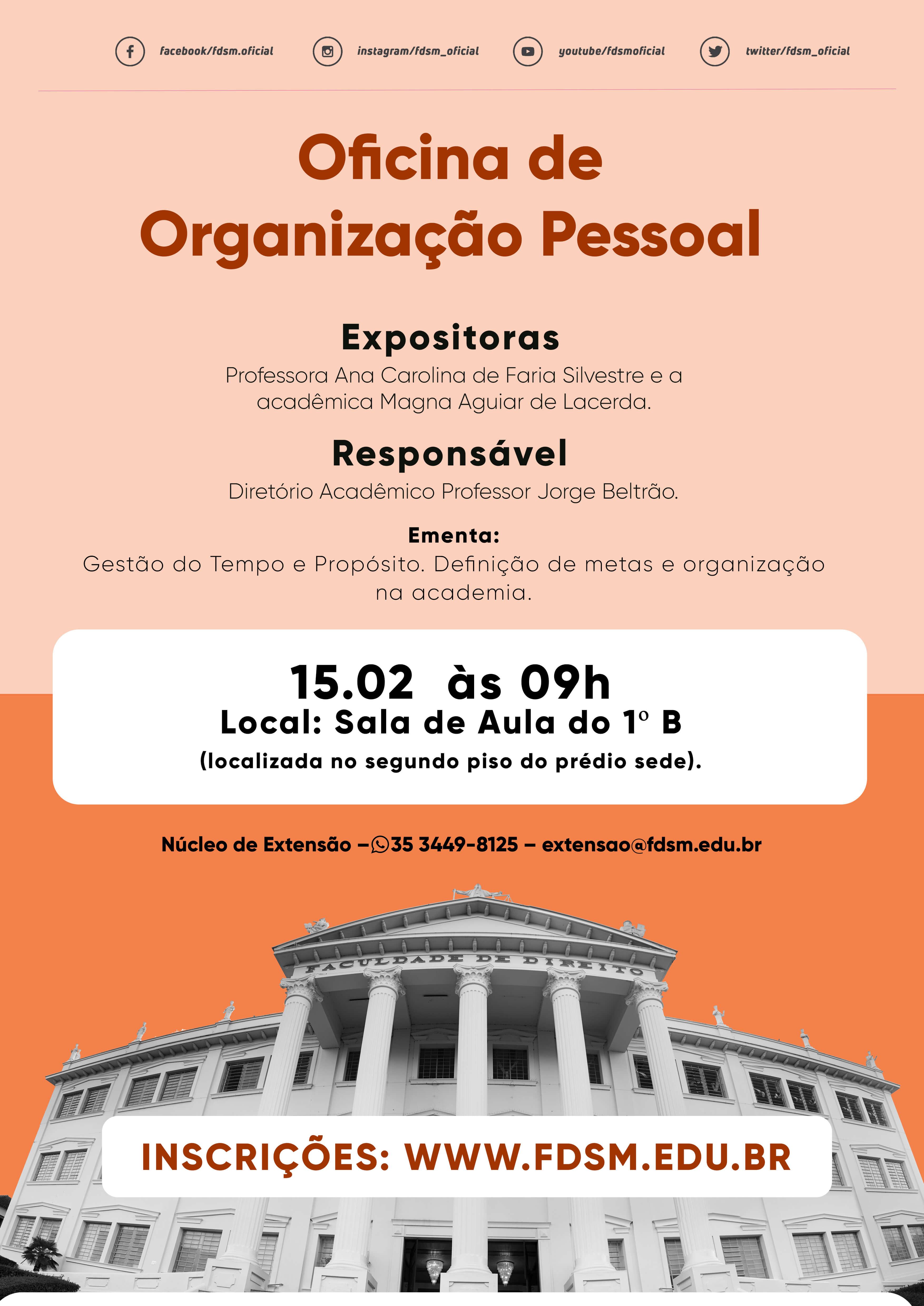 Oficina de Organização Pessoal