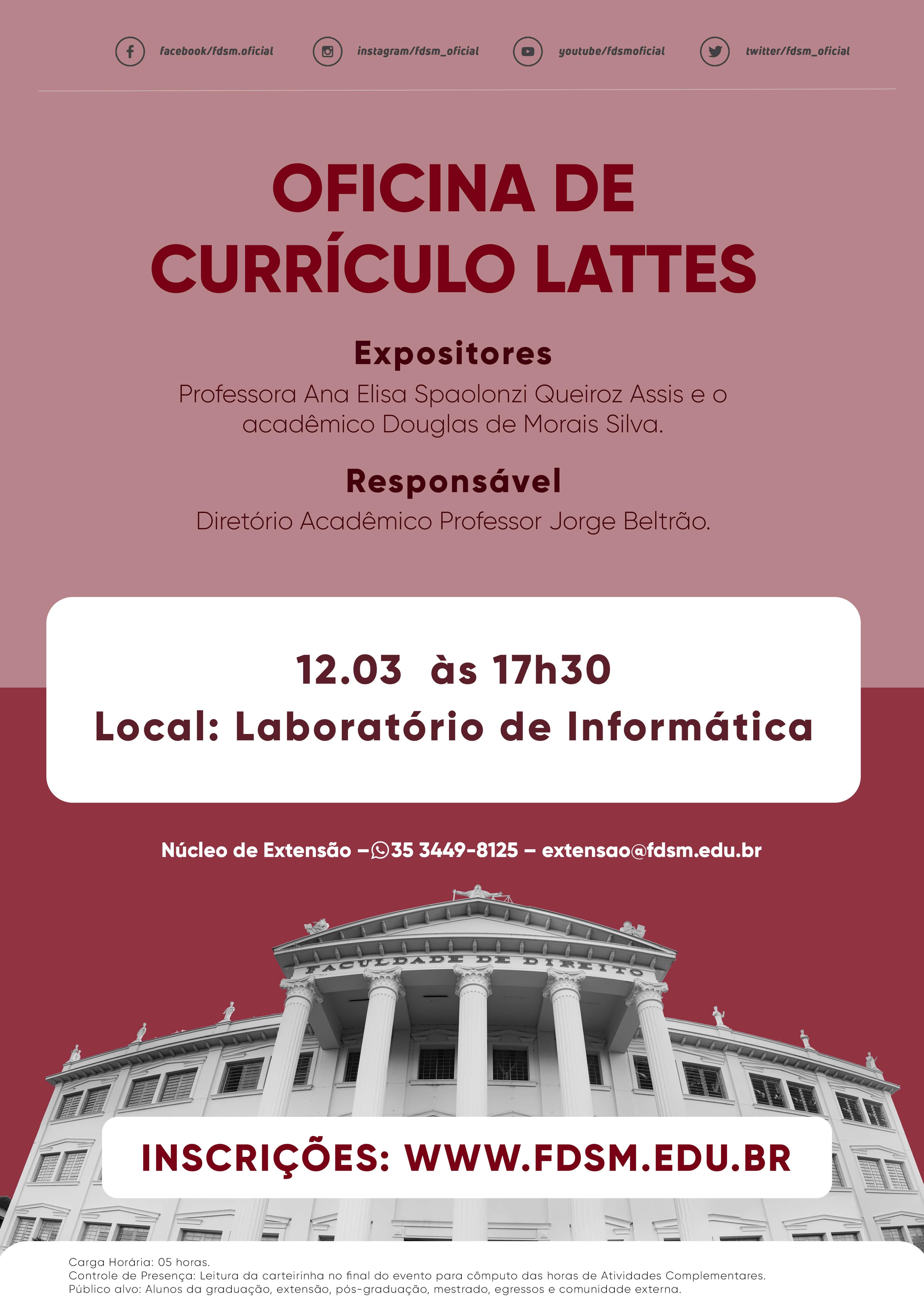 Oficina de Currículo Lattes.
