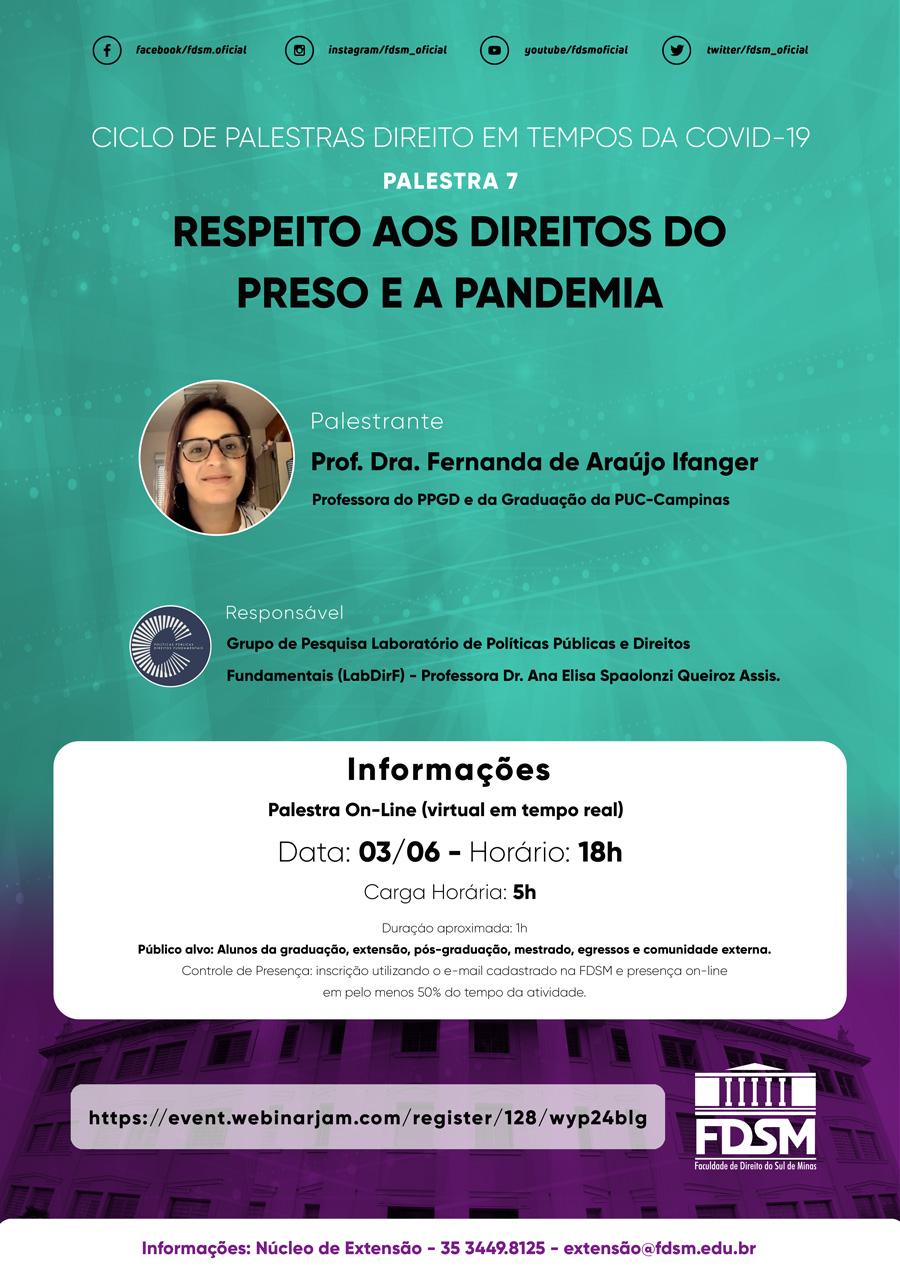 Evento 611 - CICLO DE PALESTRAS ON-LINE 'O DIREITO EM TEMPOS DA COVID-19'