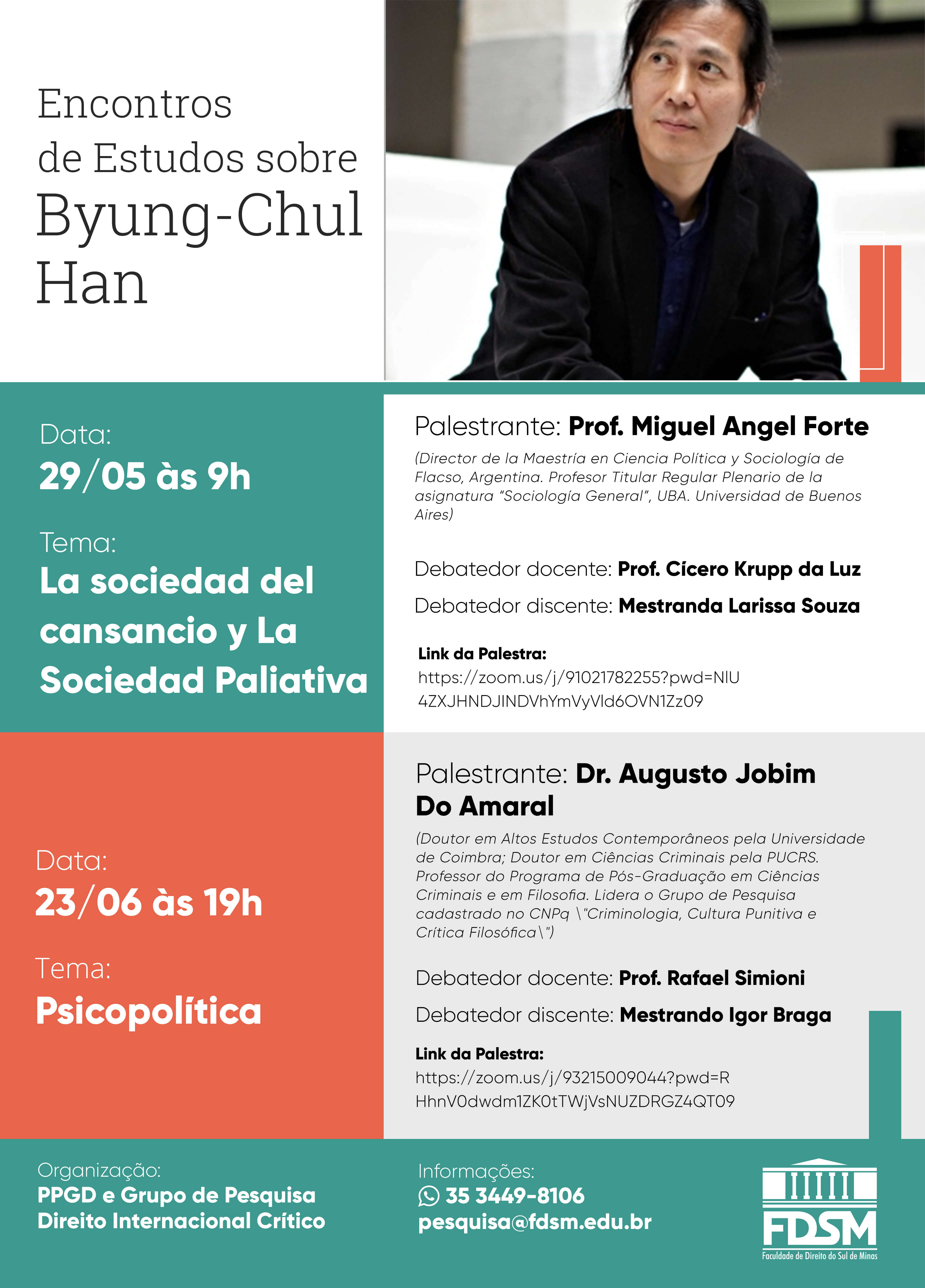 Evento 763 - ENCONTROS DE ESTUDOS SOBRE BYUNG-CHUL HAN