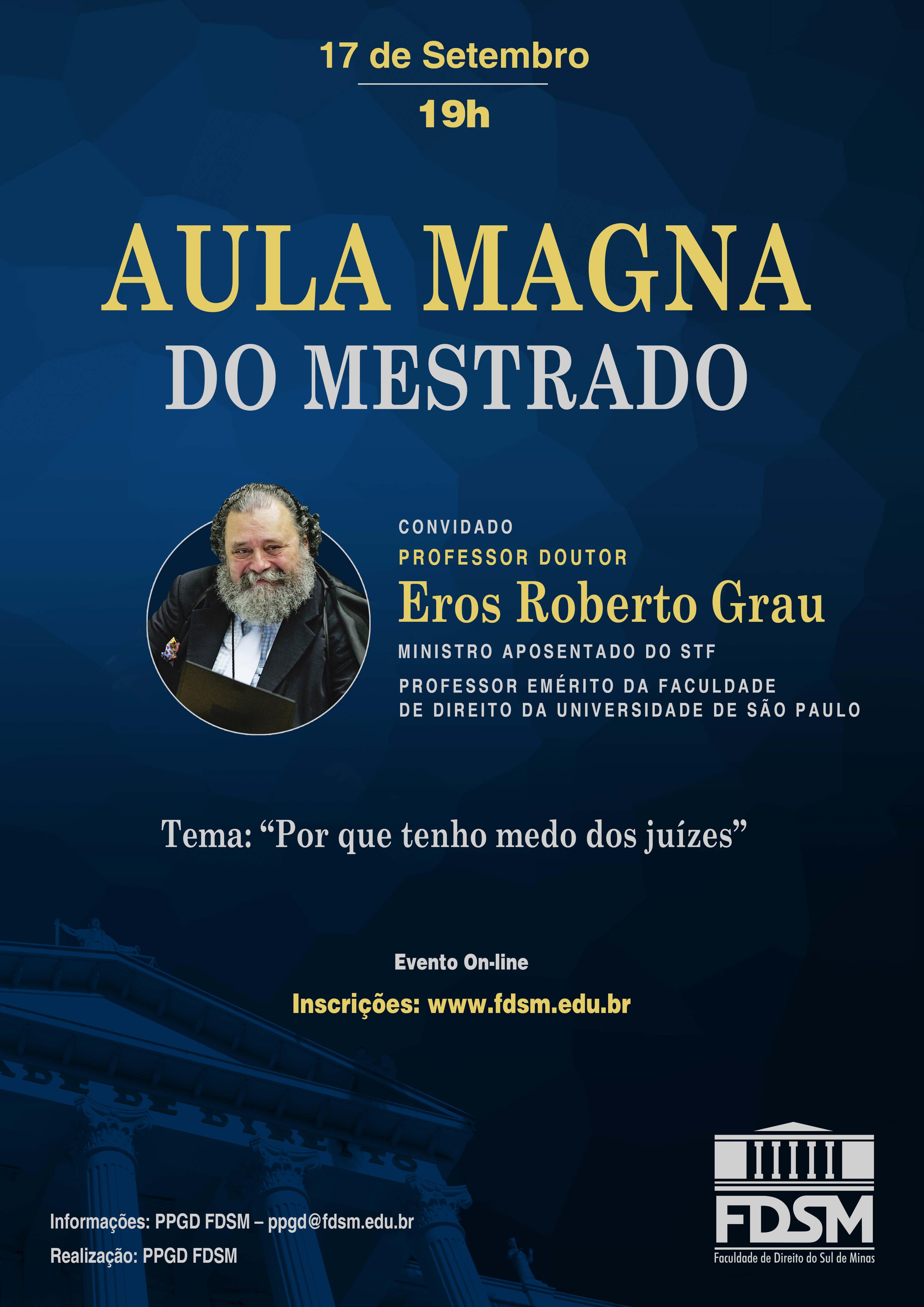 Evento 779 - AULA MAGNA DO MESTRADO