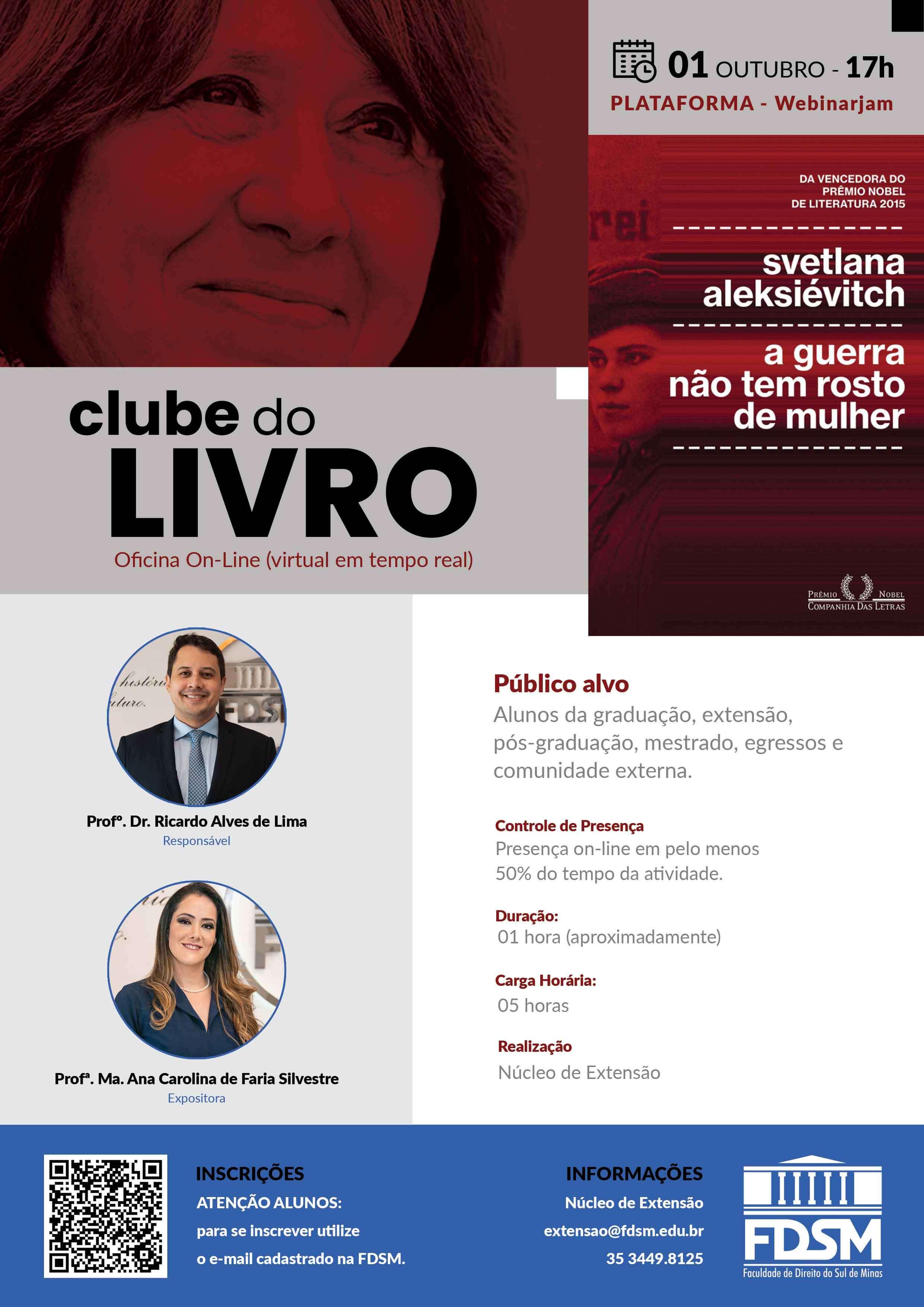 Evento 786 - OFICINA 'CLUBE DO LIVRO'.