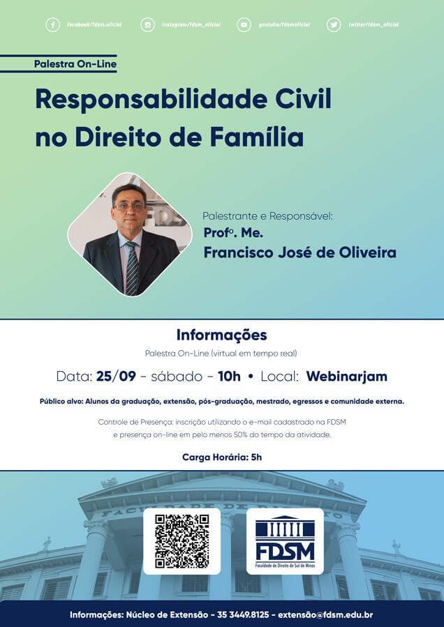 Evento 793 - PALESTRA 'RESPONSABILIDADE CIVIL NO DIREITO DE FAMÍLIA'.