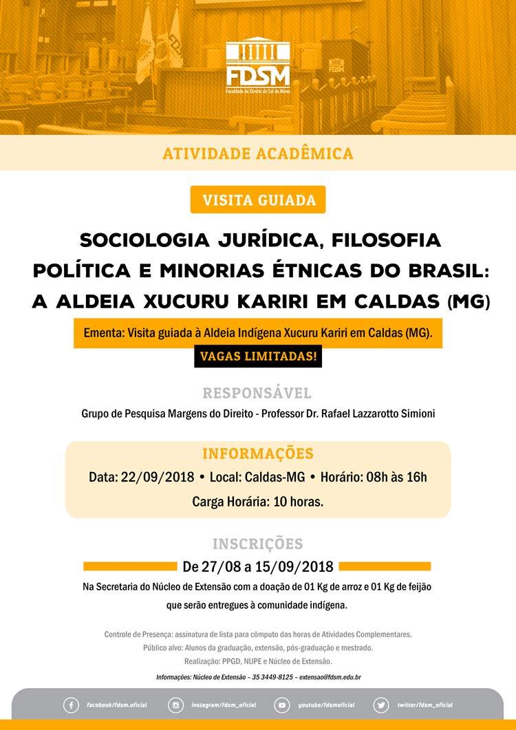Evento 362 - VISITA GUIADA À ALDEIA XUCURU KARIRI EM CALDAS (MG)