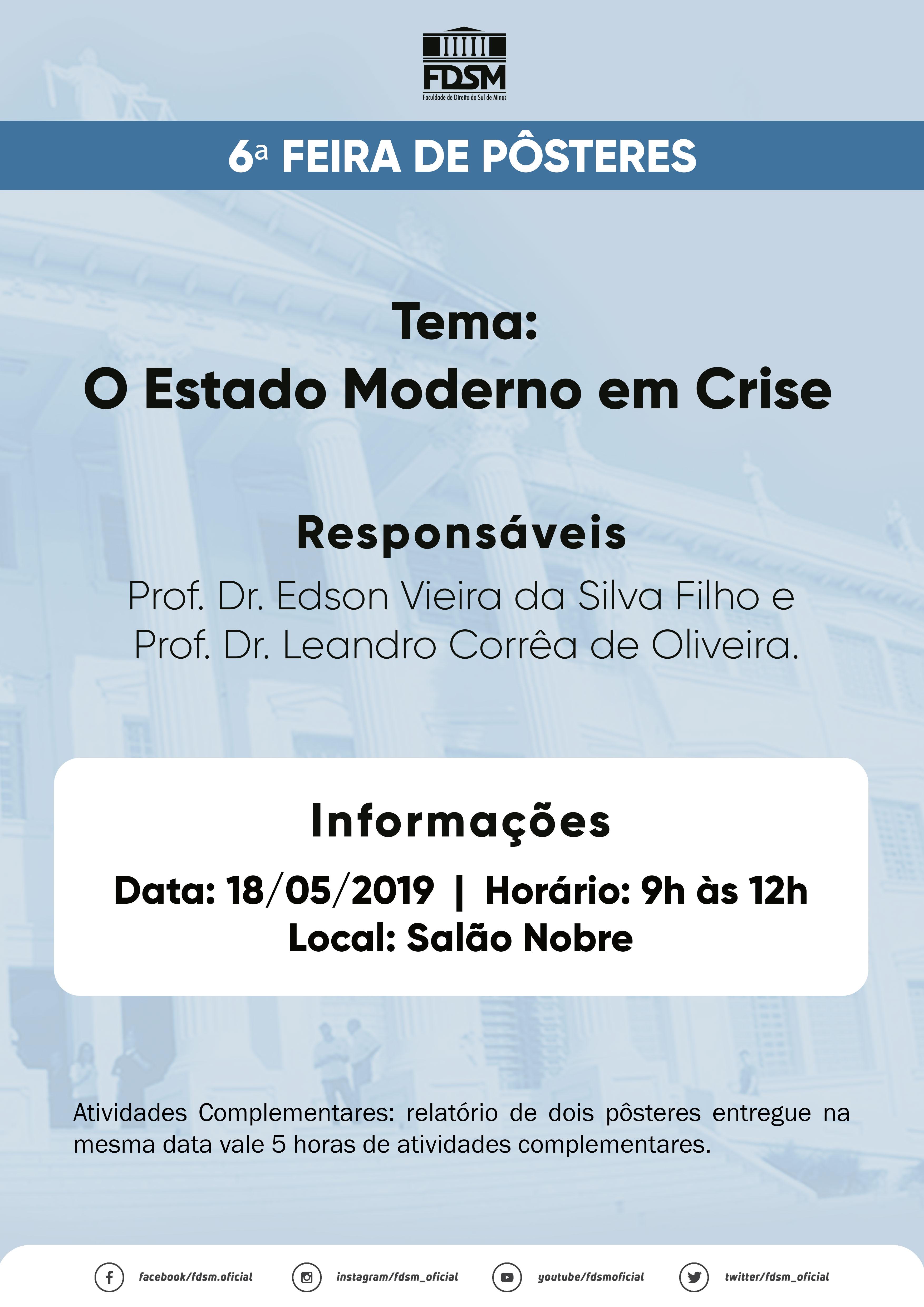Notícia 5531 - 6ª FEIRA DE PÔSTERES