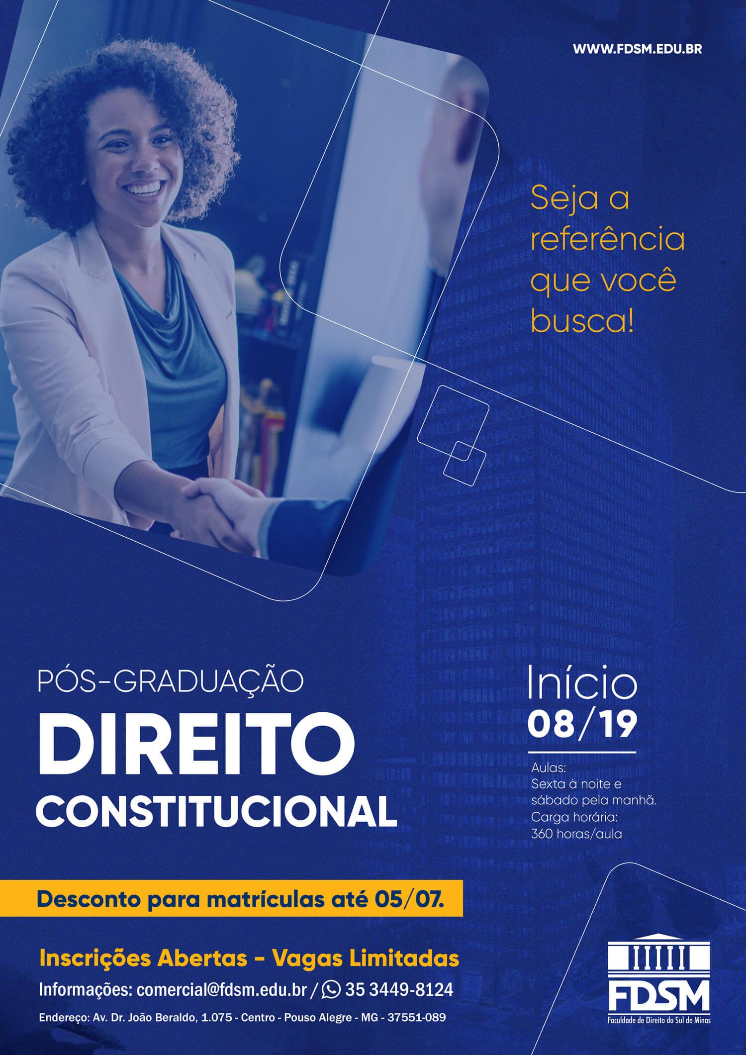 Comunicado 5566 - PÓS-GRADUAÇÃO EM DIREITO CONSTITUCIONAL