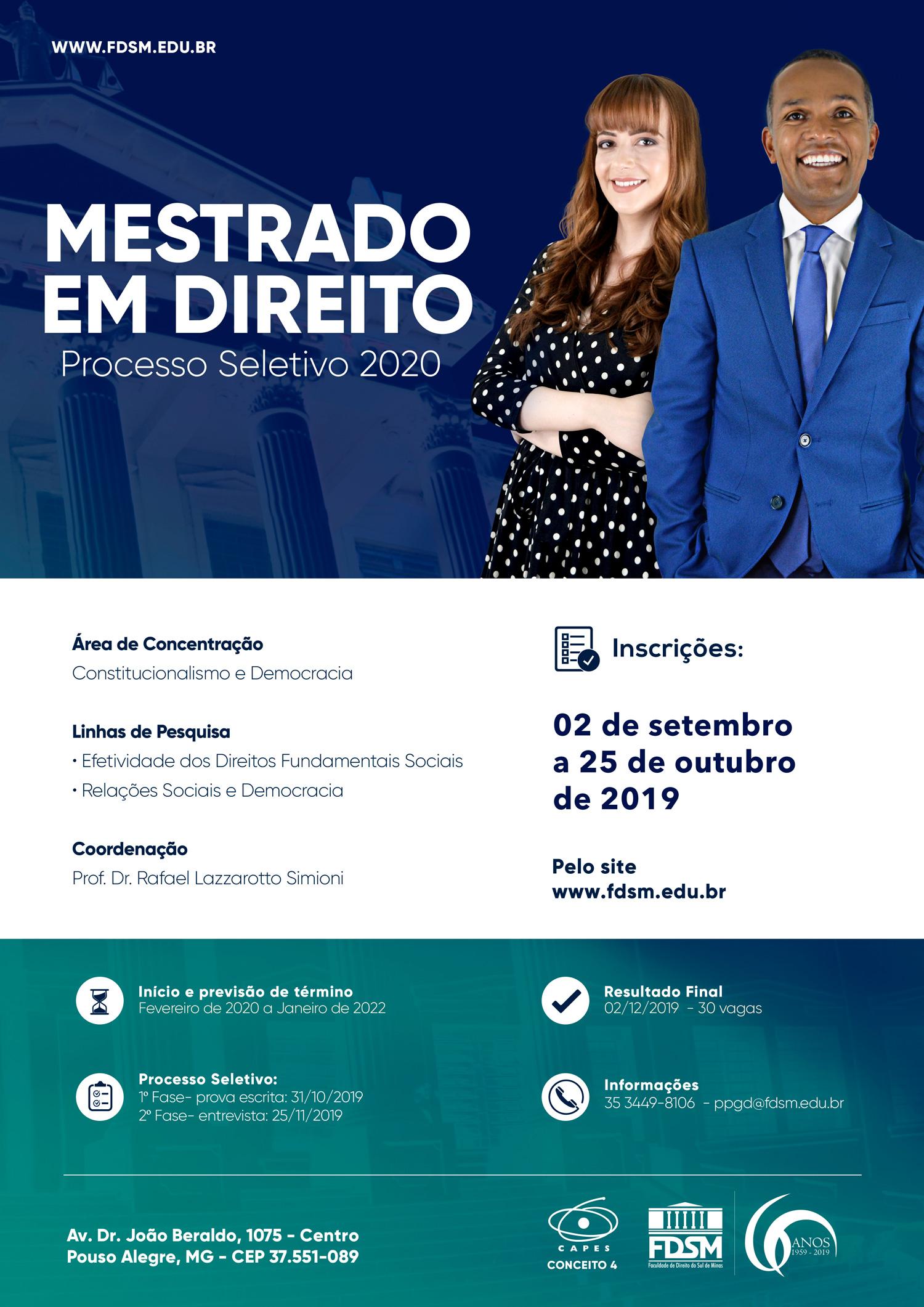 Comunicado 5823 - PROCESSO SELETIVO DO MESTRADO 2020