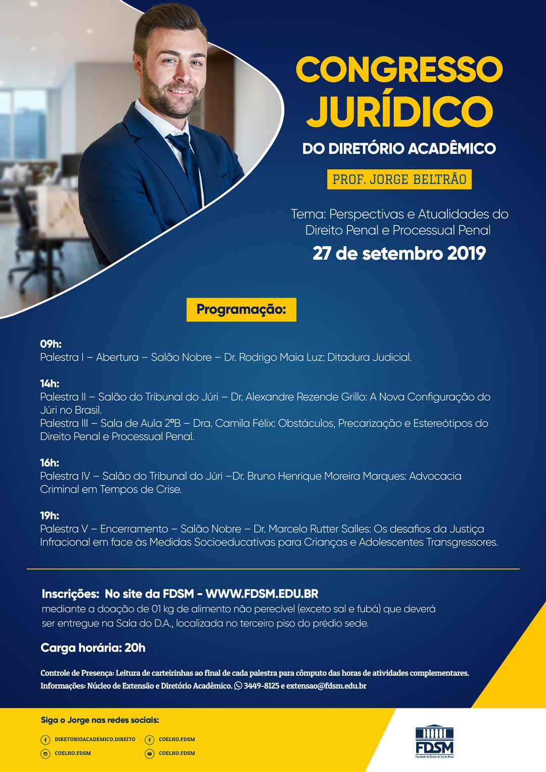 Comunicado 5875 -  CONGRESSO JURÍDICO DO DIRETÓRIO...