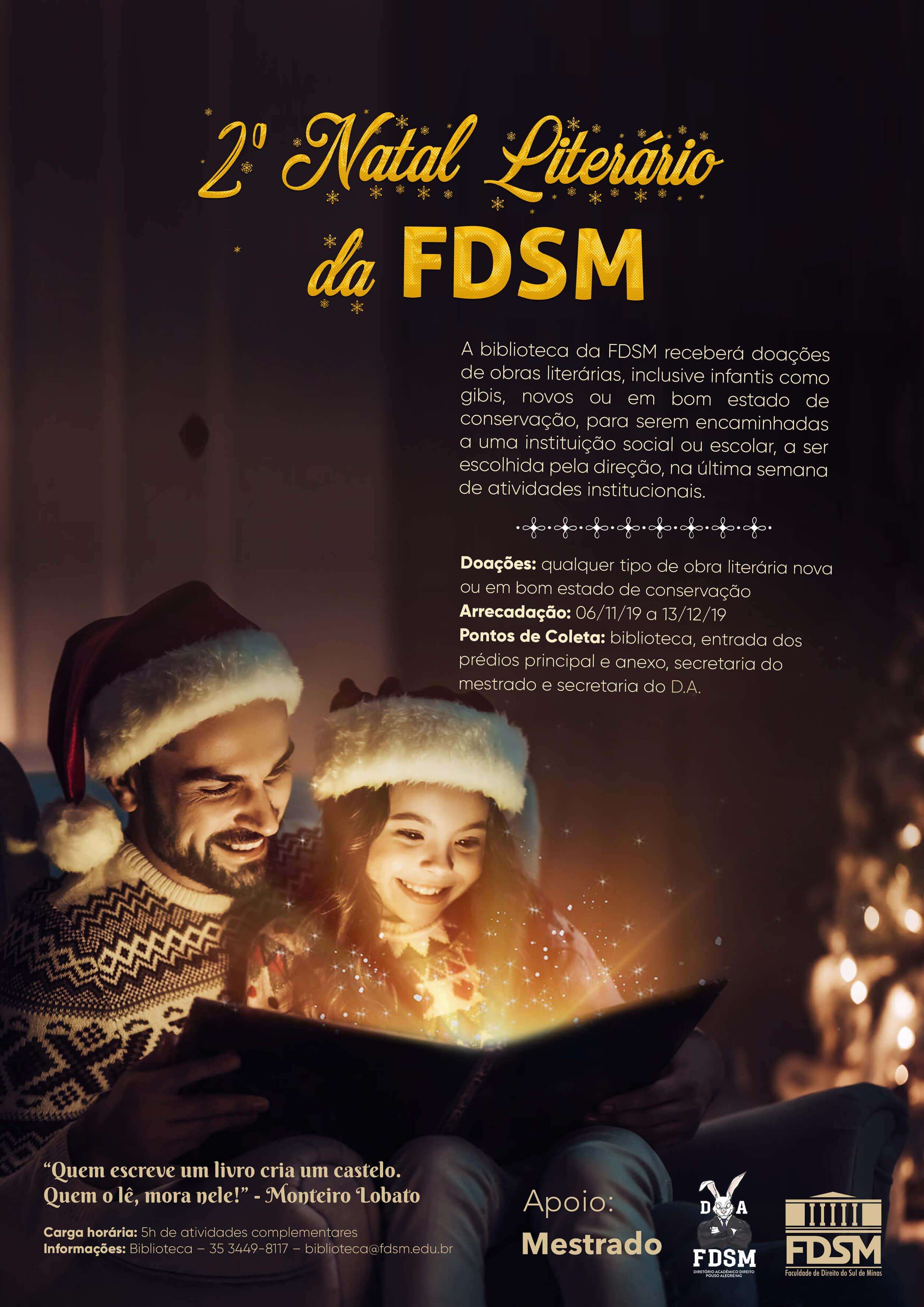 Noticia 6046 - 2º NATAL LITERÁRIO DA FDSM