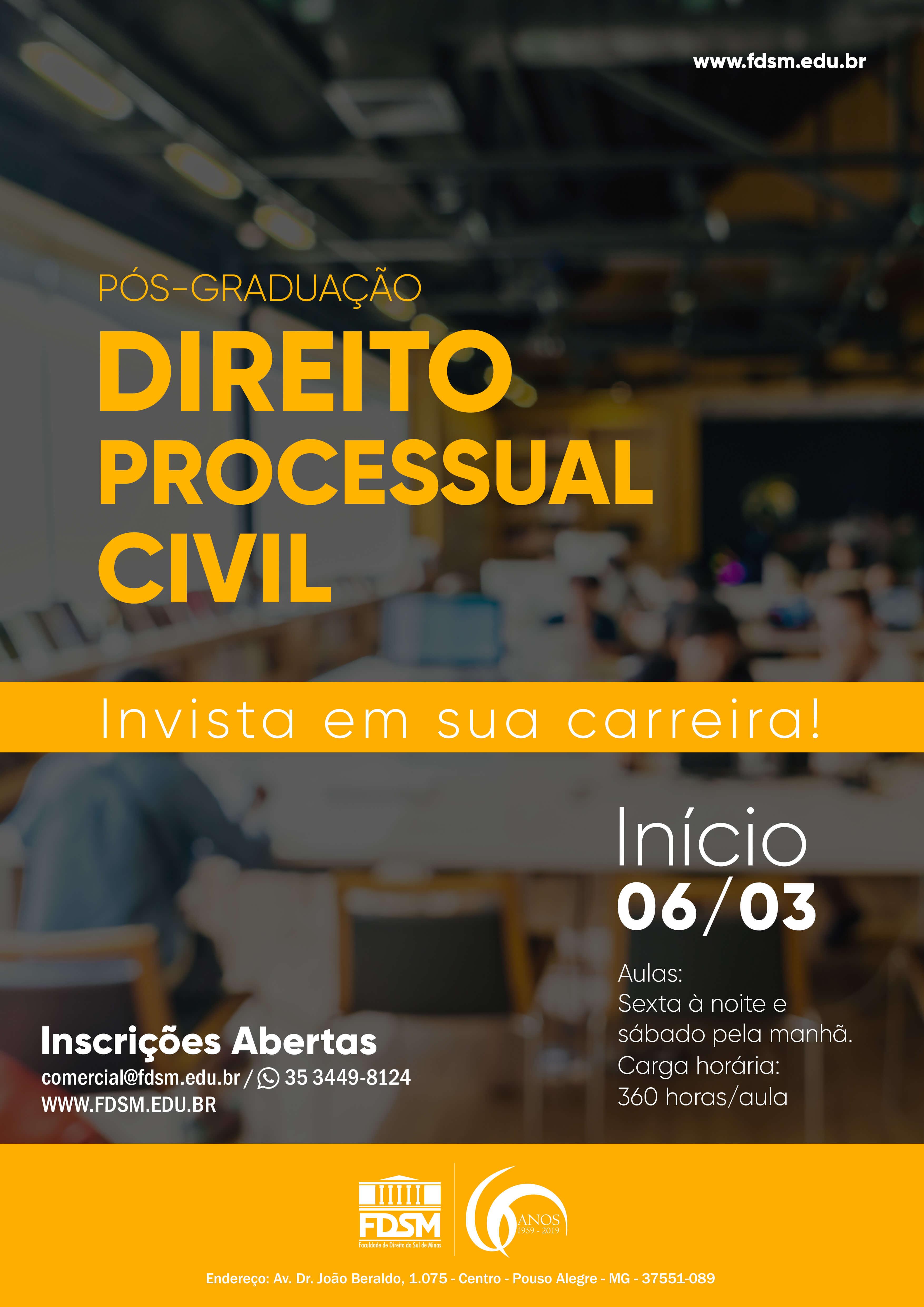 Comunicado 6069 -  PÓS-GRADUAÇÃO EM DIREITO PROCESSUAL...