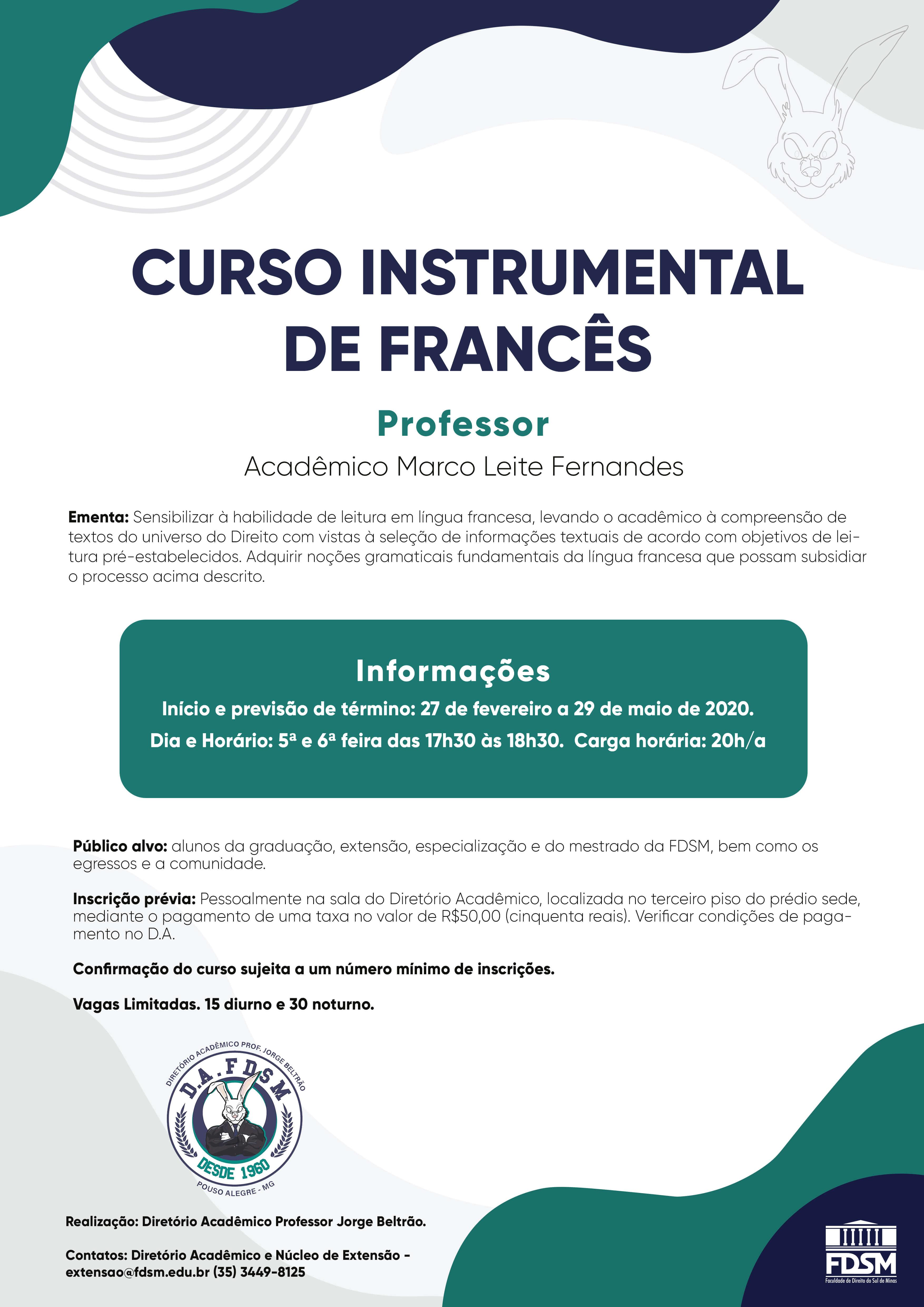 Noticia 6262 - CURSO INSTRUMENTAL DE FRANCÊS