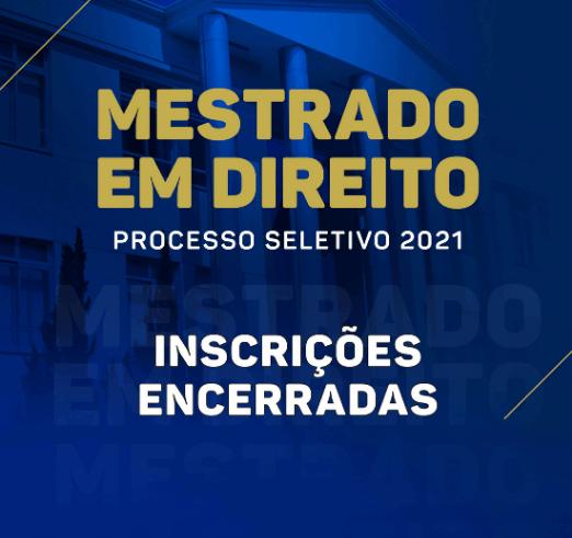 Noticia 6557 - SAIBA COMO SERÁ O PROCESSO SELETIVO 2021 DO MESTRADO DA FDSM