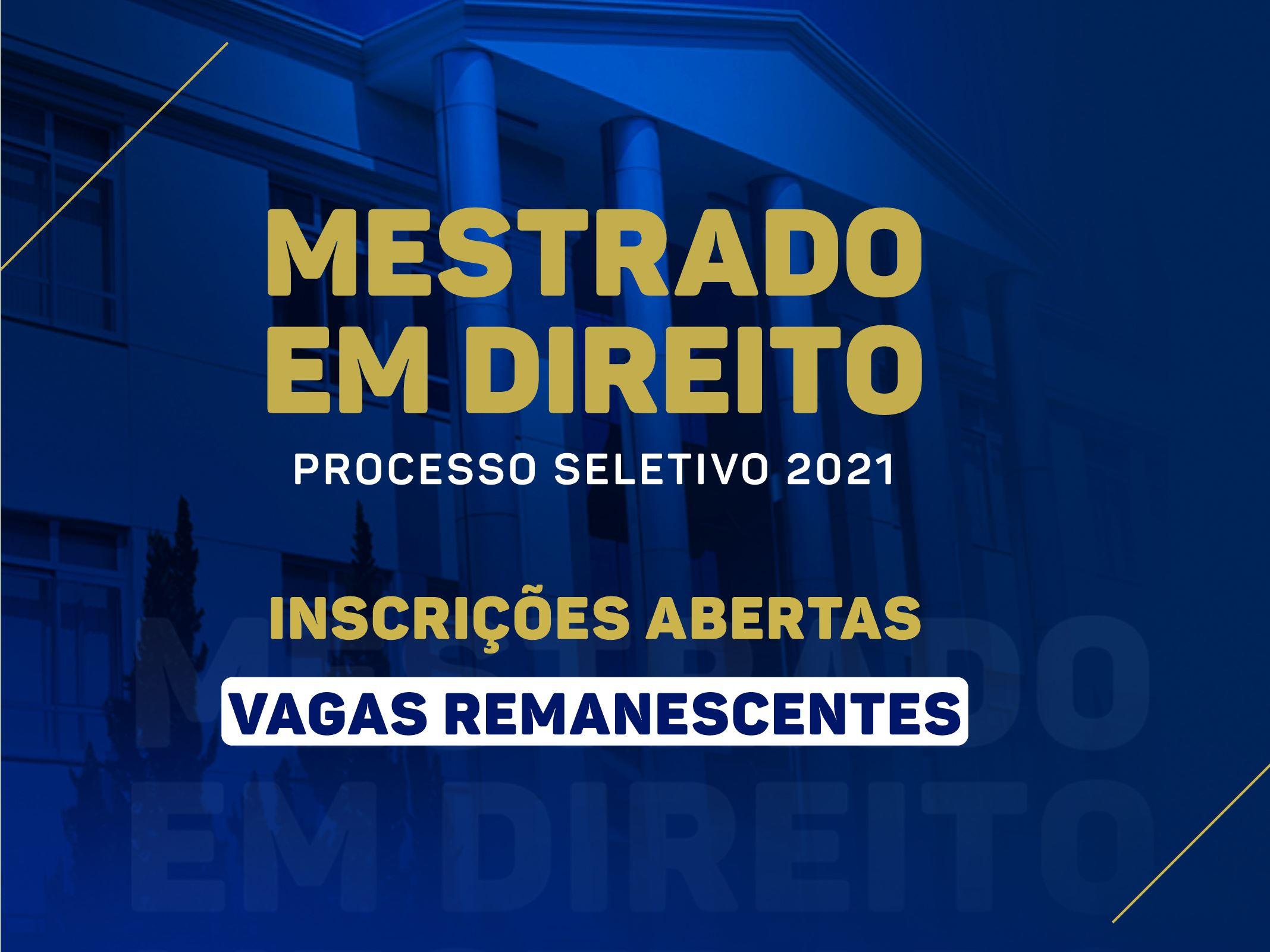 Noticia 6621 - FDSM ABRE INSCRIÇÕES PARA VAGAS REMANESCENTES DO MESTRADO
