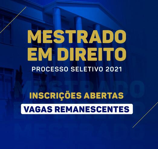 Noticia 6622 - FDSM ABRE INSCRIÇÕES PARA VAGAS REMANESCENTES DO MESTRADO