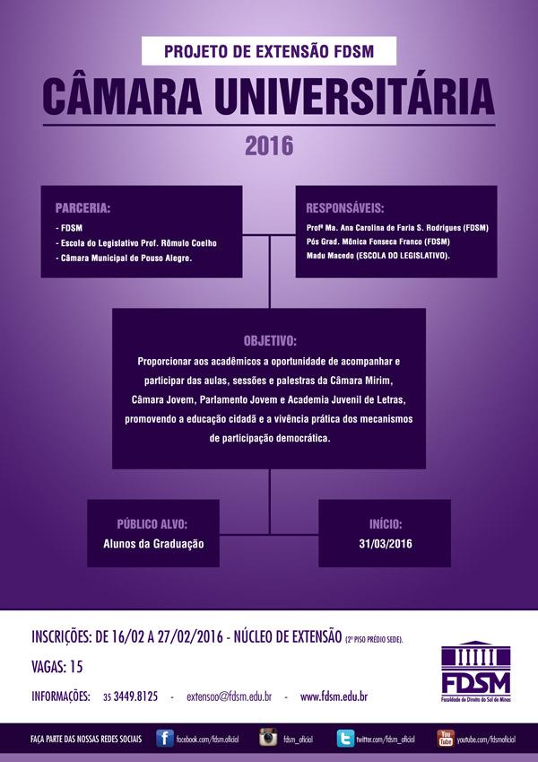 Noticia 2139 - PROJETO DE EXTENSÃO: CÂMARA UNIVERSITÁRIA 2016