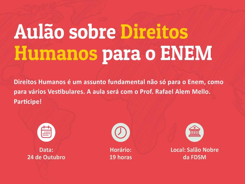 Evento 174 - AULÃO DE DIREITOS HUMANOS FDSM