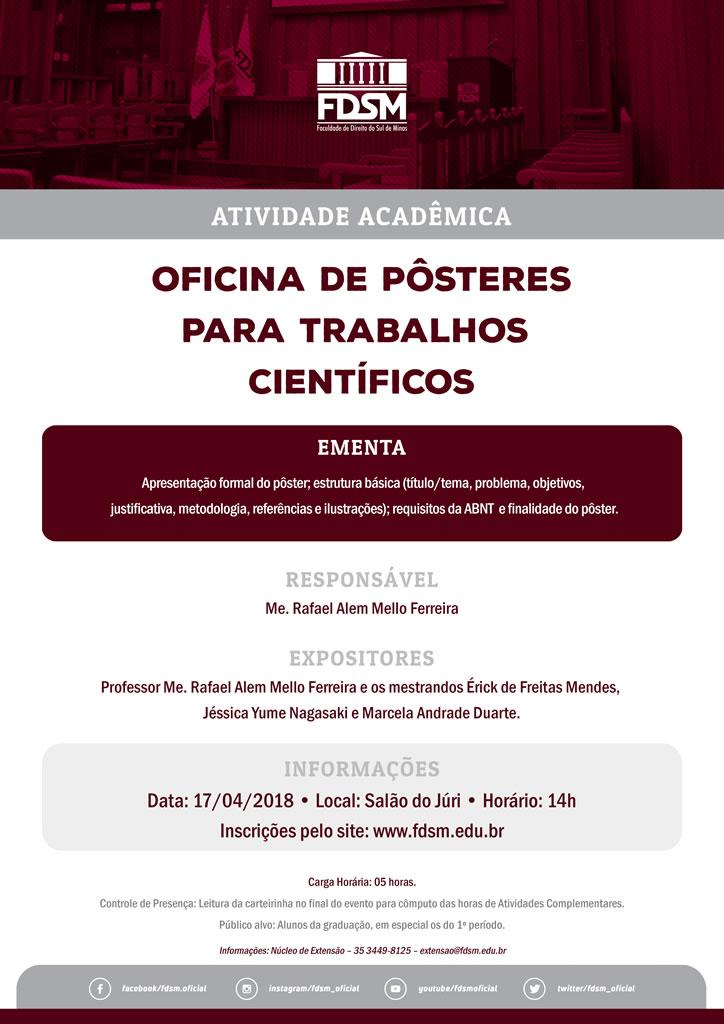 Oficina de Pôsteres para Trabalhos Científicos