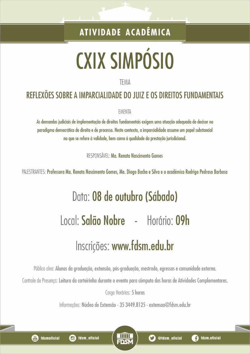 Cód 102: CXIX Simpósio