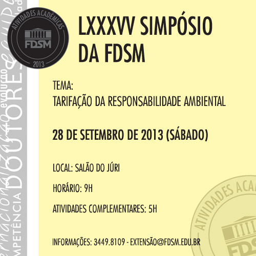 LXXXVV SIMPÓSIO DA FDSM