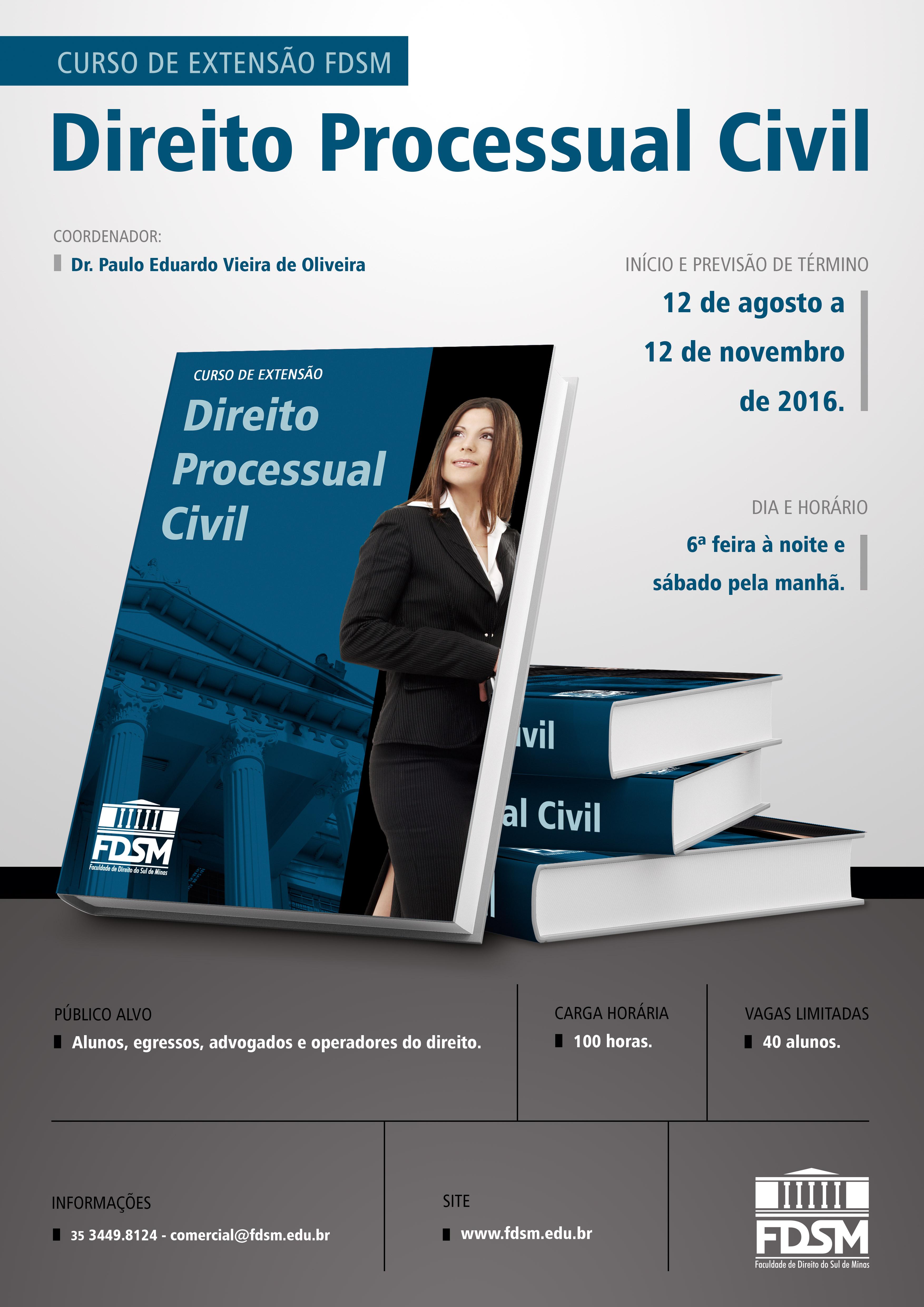 Noticia 2426 - CURSO DE EXTENSÃO EM DIREITO PROCESSUAL CIVIL