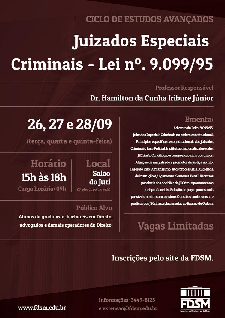 """Cód 170:  Ciclo de Estudos Avançados """"Juizados Especiais Criminais –..."""