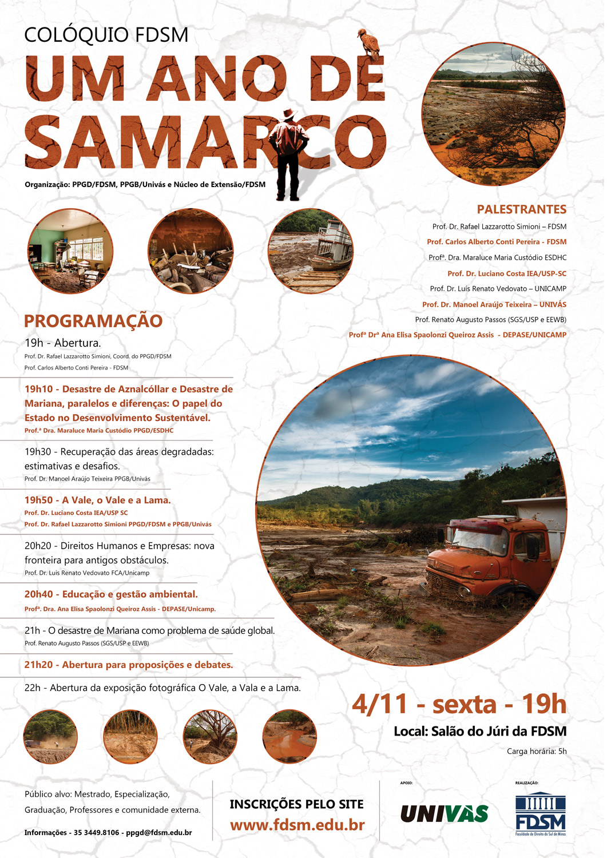 Cód 105: Colóquio - Um ano de Samarco
