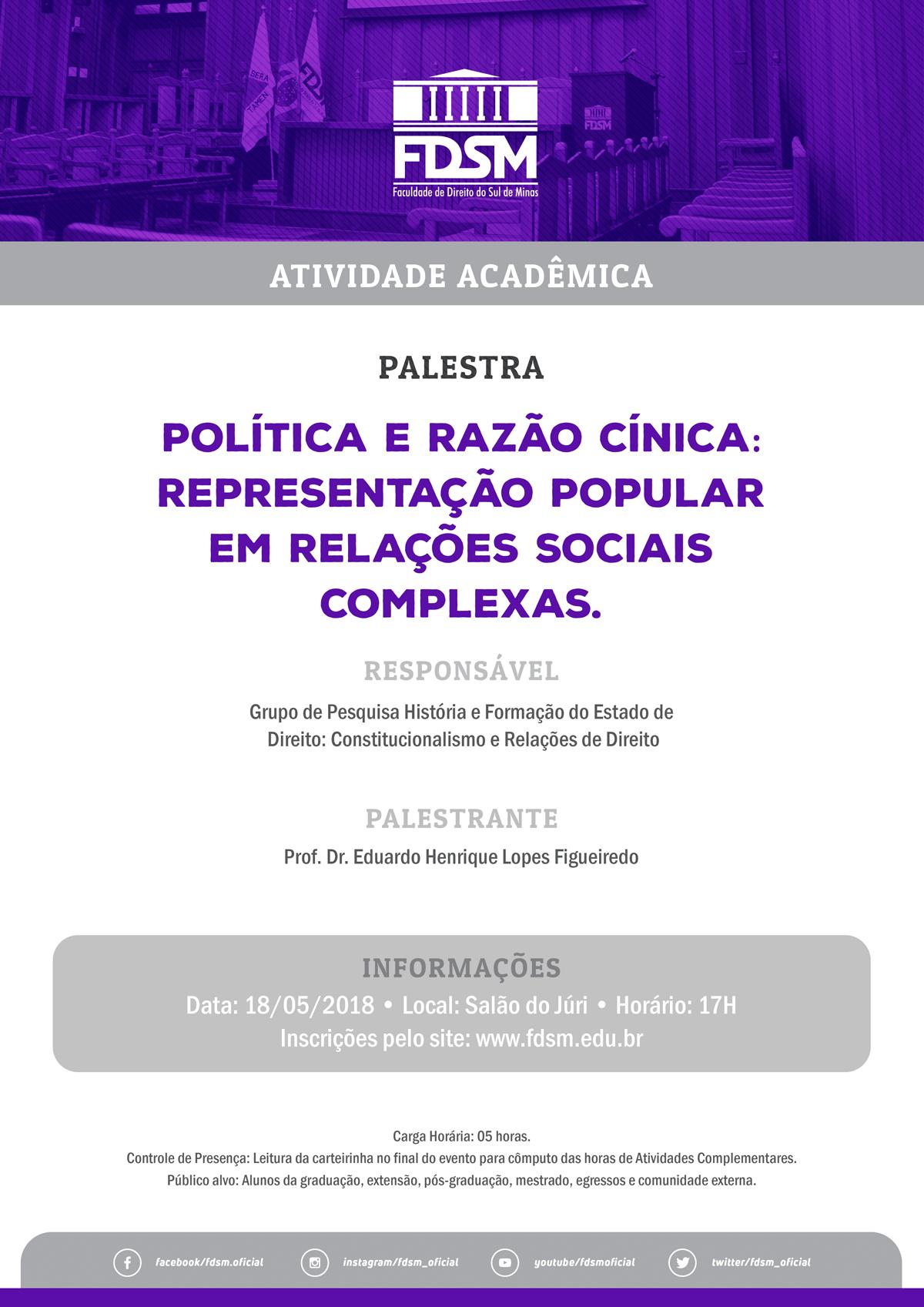 Política e Razão Cínica: representação popular em relações sociais complexas