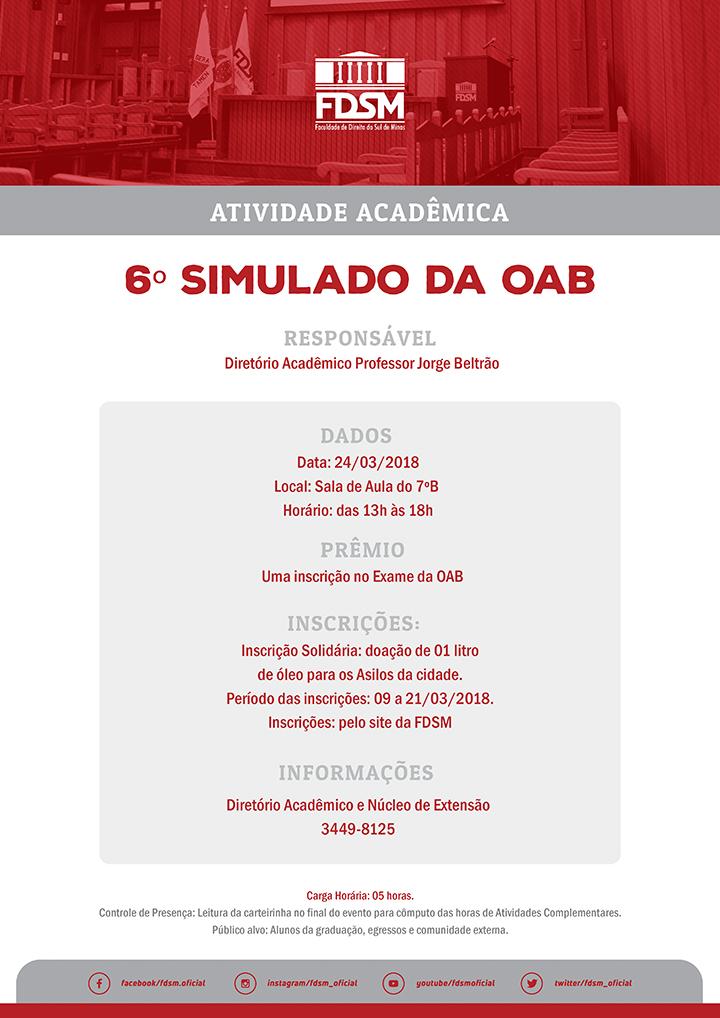 6º Simulado da OAB