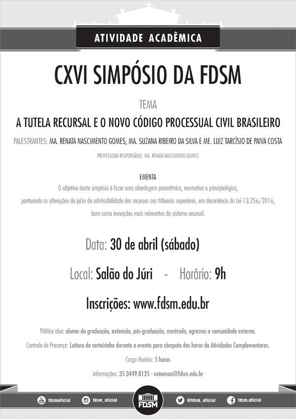 Cód 80: CXVI Simpósio