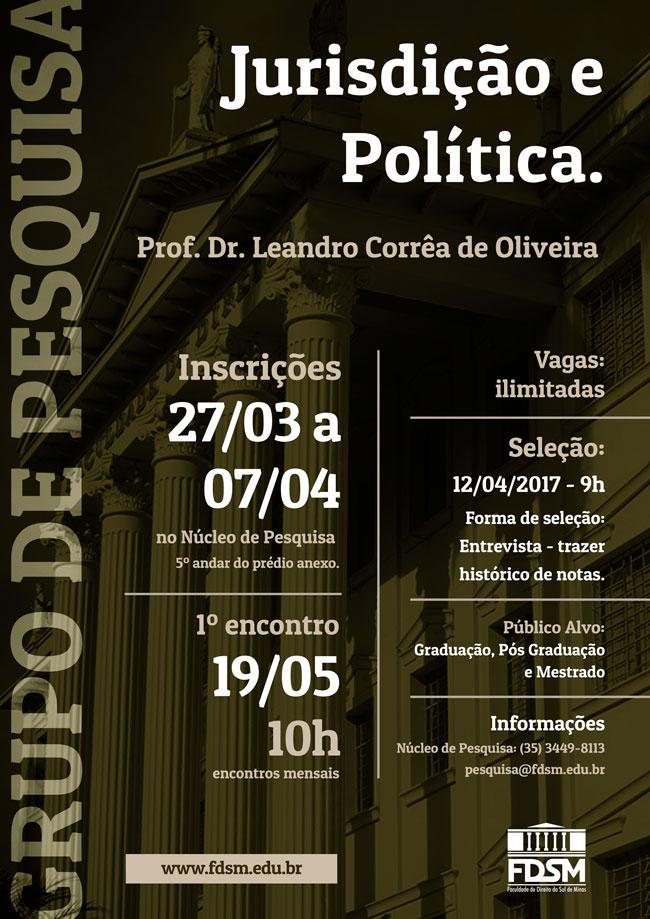 Noticia 3363 - GRUPO DE PESQUISA: JURISDIÇÃO E POLÍTICA