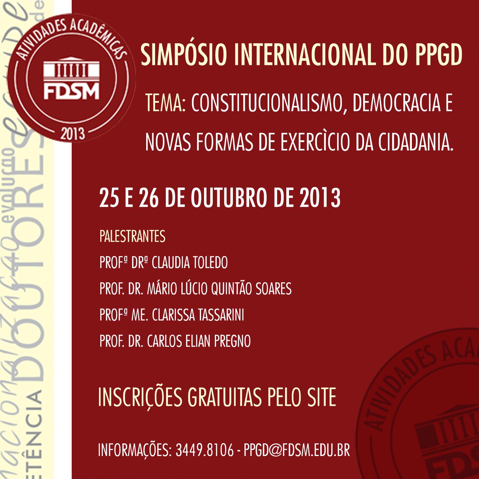 SIMPÓSIO INTERNACIONAL DO PPGD