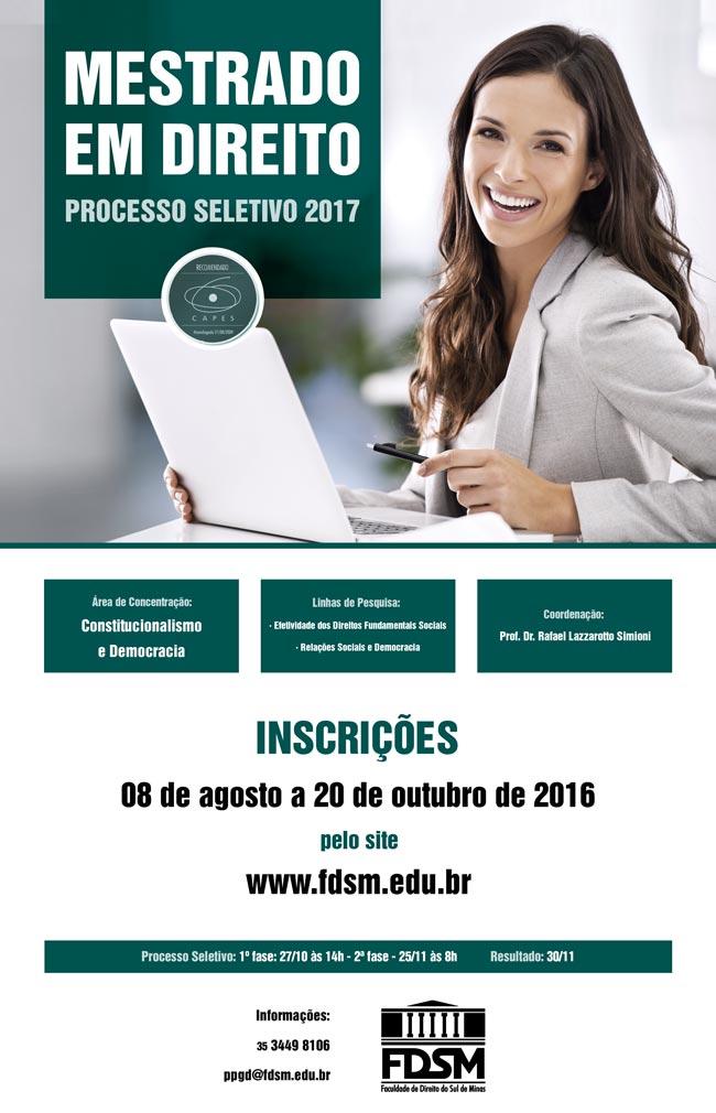 Noticia 2604 - MESTRADO EM DIREITO - PROCESSO SELETIVO 2017