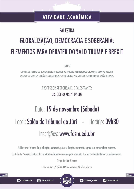 Globalização, democracia e soberania: elementos para debater D. Trump e Brexit