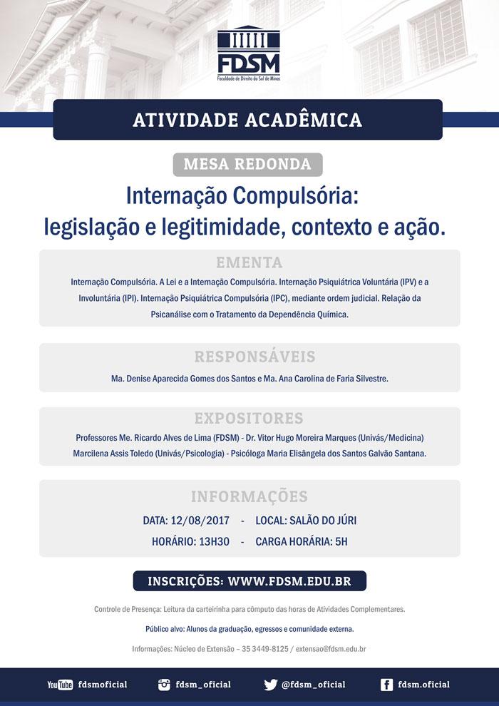 """Cód 145:  Mesa Redonda """"Internação Compulsória: legislação e..."""