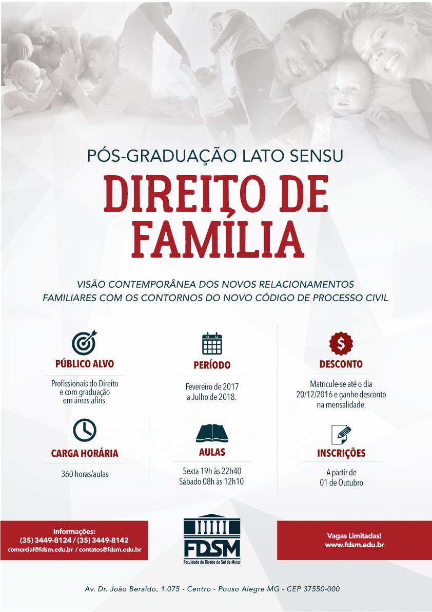 Noticia 3198 - PÓS-GRADUAÇÃO LATO SENSU EM DIREITO DE FAMÍLIA