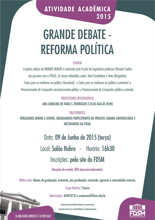 Grande Debate – Reforma Política