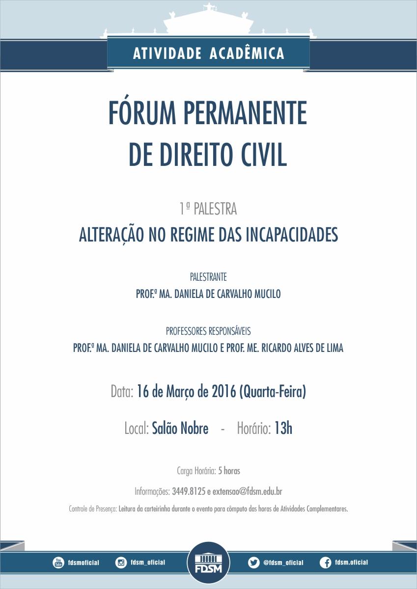 1ª Palestra do Fórum Permanente de Direito Civil