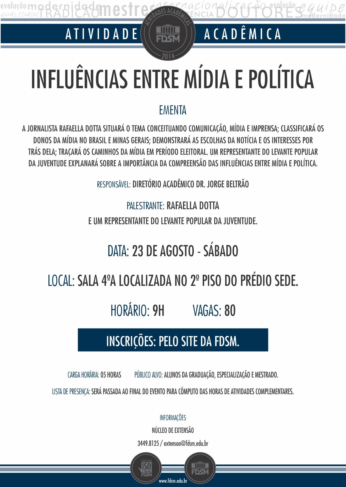 Influências entre Mídia e Política