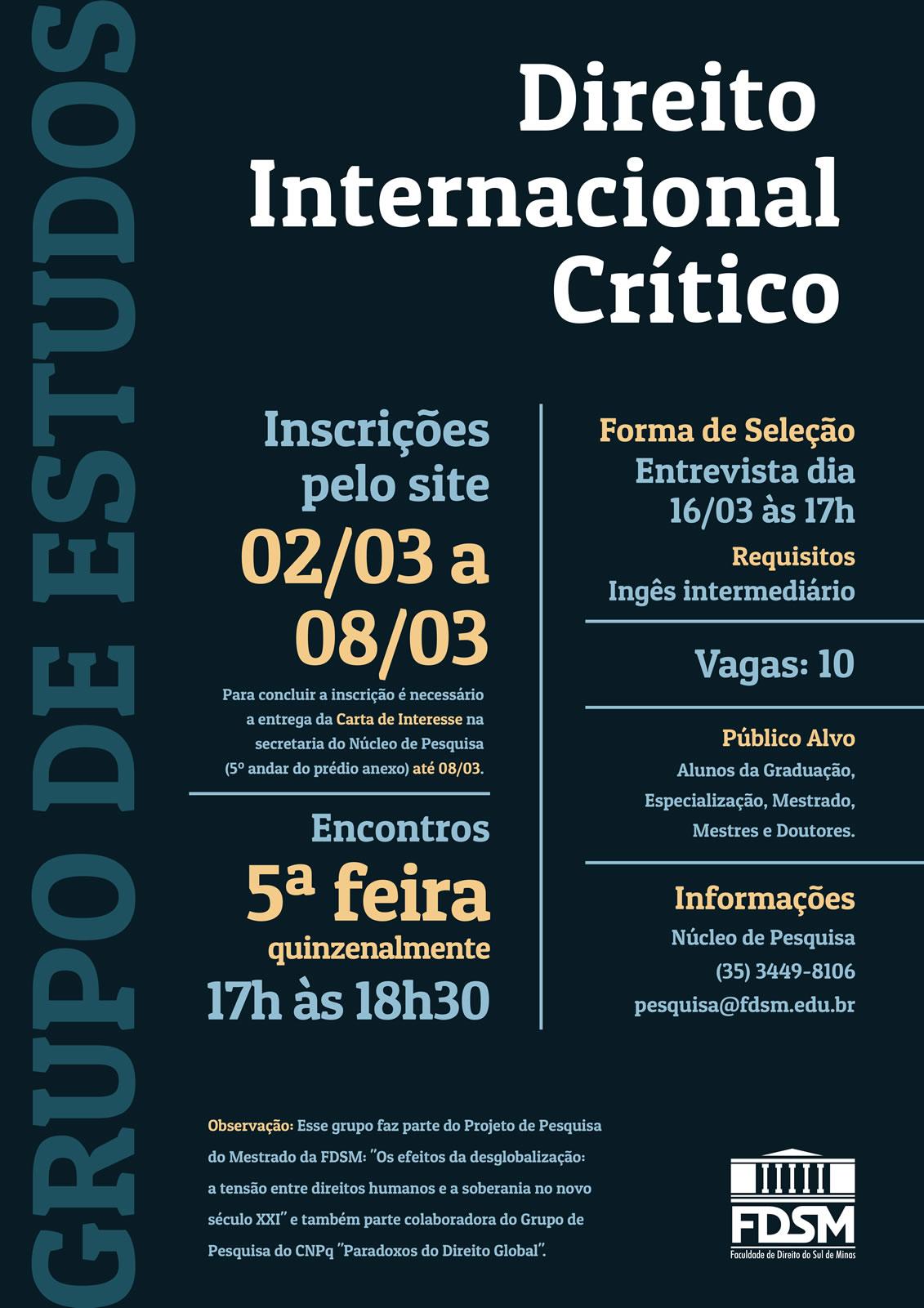 Grupo de Estudos Direito Internacional Crítico
