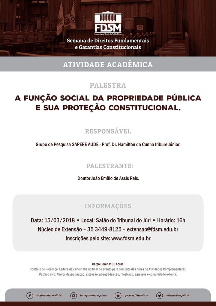 Palestra 'A Função Social da Propriedade Pública e sua Proteção Constitucional'