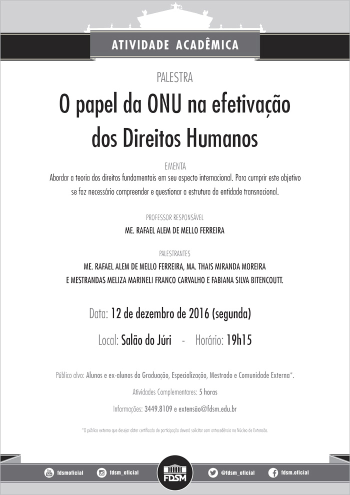 Cód 117: O papel da ONU na efetivação dos Direitos Humanos