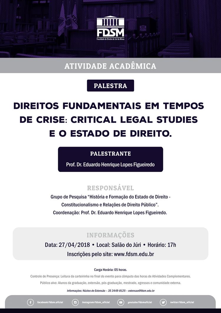 """Palestra """"Direitos Fundamentais em Tempos de Crise"""""""